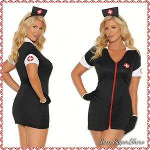 🆕JUST IN! PLUS After🌃Night Nurse 3P Costume!